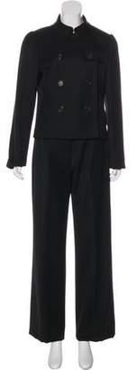 Burberry Wool Long Sleeve Pant Suit