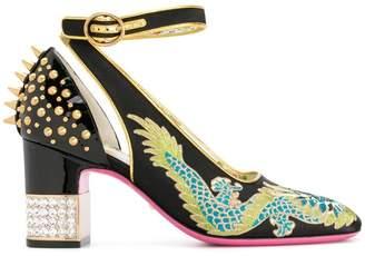 Gucci Dragon mid-heel pumps