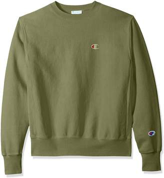 Champion Life Men's Reverse Weave Sweatshirt, Black/Left Chest C Logo