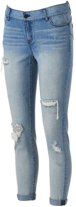 Women's Juicy Couture Ripped Glitter Skinny Jeans $54 thestylecure.com