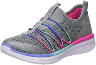 Skechers Girls' Synergy 2.0 - Simply Chic Trainers, Grey/Multicolour, 28 EU