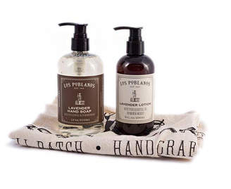 Los Poblanos Organic Lavender Lavender Hand Soap and Lotion Gift Set