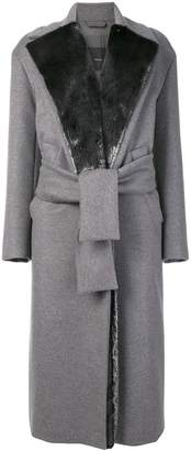 Max Mara belted single-breasted coat