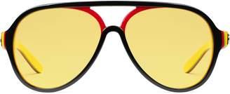 Gucci Aviator multilayer acetate sunglasses