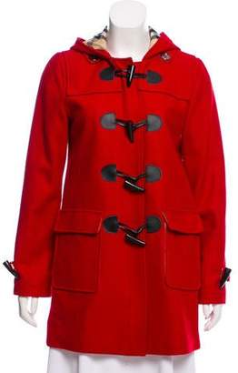 Burberry Hooded Wool-Blend Coat