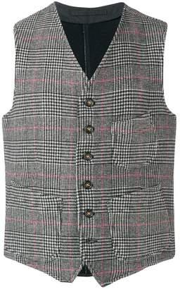 Fortela houndstooth waistcoat