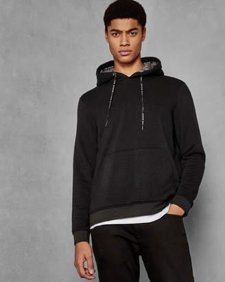 Ted Baker KENSY Logo cotton blend hoodie