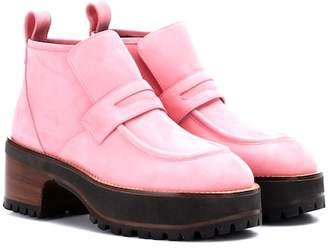 Sies Marjan Jane suede platform ankle boots