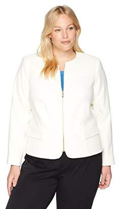 Calvin Klein Women's Plus Size Zipper Front Jacket