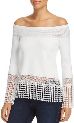 Elie Tahari Alisha Off-the-Shoulder Sweater $348 thestylecure.com