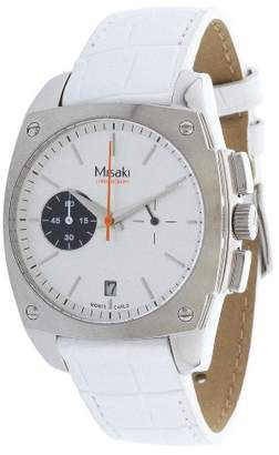 Misaki Women's Quartz Watch with Black Dial Analogue Display Quartz Leather Qcrwmc 98WSIL