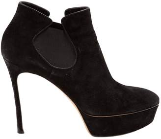Casadei Black Suede Ankle boots