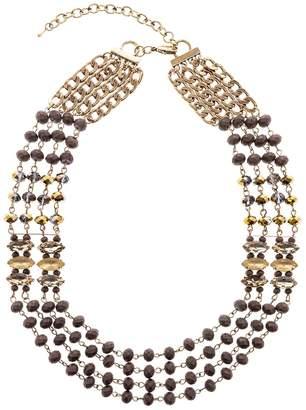 Splendid Iris Multi Chain Necklace