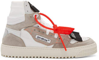 Off-White White and Grey Low 3.0 Off-Court High-Top Sneakers