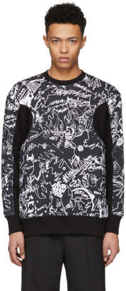 Versus Black Graphic Sweatshirt