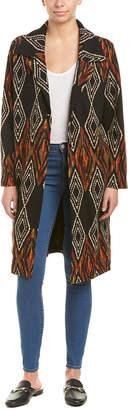 Anama Printed Woven Long Jacket