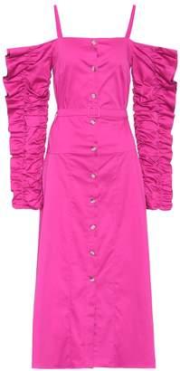 Anna October Stretch-cotton cold-shoulder dress