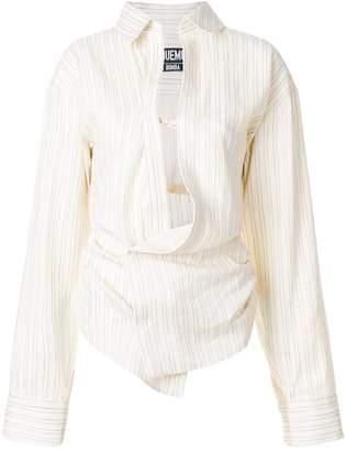 Jacquemus asymmetric gather blouse