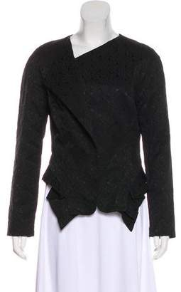 Robert Rodriguez Pleated Asymmetrical Blazer