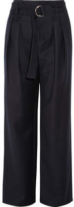 Frame Wool Wide-leg Pants - Navy