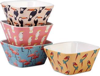 Certified International Paradise Ice Cream Bowls, Set of 4