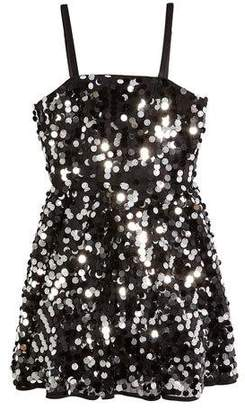 Milly Minis Avery Paillettes Sleeveless Dress, Size 8-16