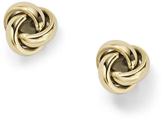 Fossil Twisted Knot Gold-Tone Steel Studs