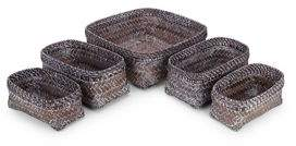 Tag Trade Five-Piece Handwoven Baskets Set