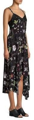 Joie Onelia Floral Asymmetric Midi Dress