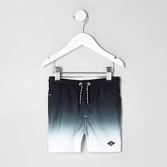 River Island Mini boys Black dip dye swim shorts