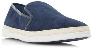 Dune Navy 'Benjamin' Espadrille Detail Slip On Shoes