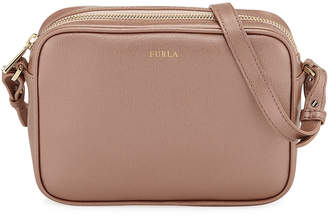Furla Annie Large Metallic Saffiano Leather Shoulder Bag