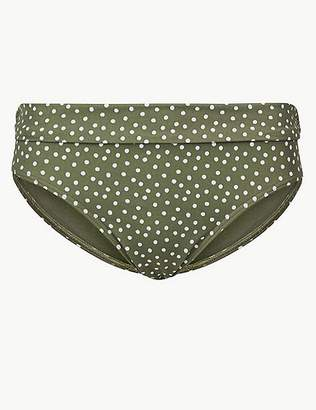 Marks and Spencer Spot Print Roll Top Bikini Bottoms