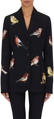 Stella McCartney STELLA MCCARTNEY WOMEN'S EMBROIDERED WOOL THREE-BUTTON JACKET