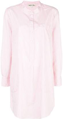 Alex Mill Button Down Striped Mini Shirt Dress