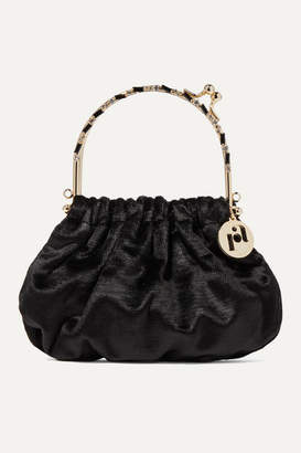 Rosantica Jacques Small Crystal-embellished Velvet Tote - Black
