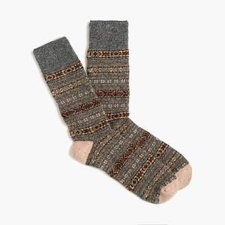 J.Crew Grey Fair Isle wool socks