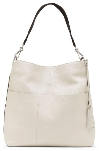 Vince Camuto Risa Leather Hobo - Ivory