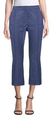 Elie Tahari Lisa Cropped Stretch Check Pants