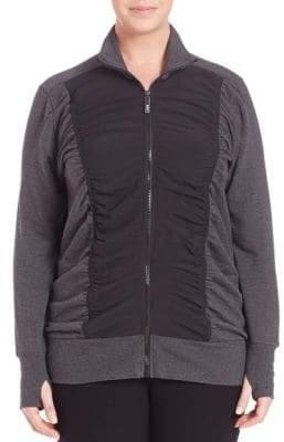 Andrew Marc Performance Plus Plus Ruched-Front Thumbhole Jacket