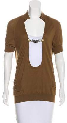 Mayle Short Sleeve Open Front Top