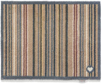Hug Rug - Stripe Washable Recycled Door Mat - Brown - 65x85cm