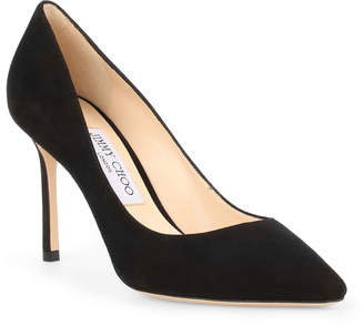 Jimmy Choo Romy 85 black suede pumps