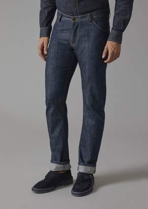 Giorgio Armani Regular Fit Cotton Denim Jeans