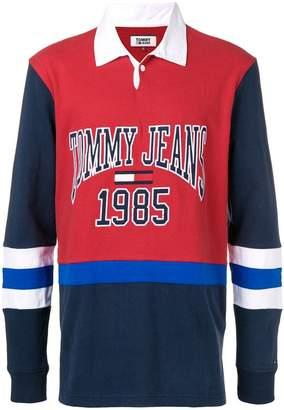 Tommy Hilfiger logo contrast polo shirt
