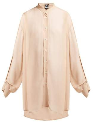 Ann Demeulemeester Mclottie Crepe Blouse - Womens - Pink