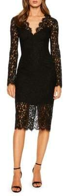 Bardot Scalloped Lace Sheath Dress
