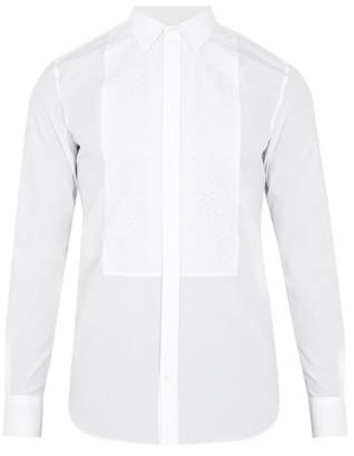 Alexander McQueen Embroidered-bib cotton-poplin shirt