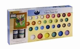 Plaid Gallery Glass Window Color Value Paint Set