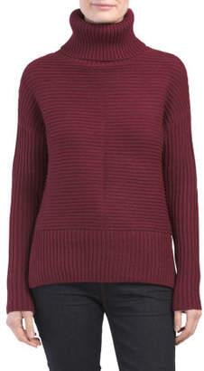 Petite Chunky Rib Turtleneck Sweater